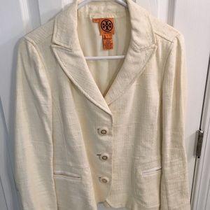 Tory Burch blazer jacket  cream size 6 off white
